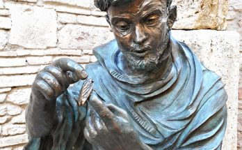 St. Francis Assisi photo by Carlo Raso, of a sculpture by Fiorenzo Bacci. https://www.flickr.com/photos/70125105@N06/22584780344/