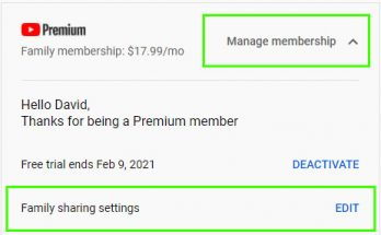 Add a family member to YouTube Premium